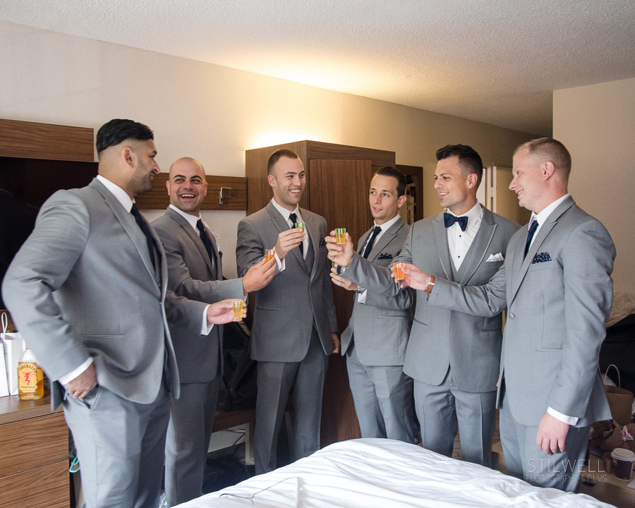 Groom and Groomsmen Toast NY Wedding