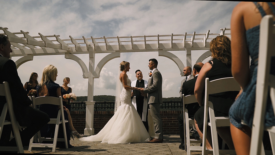 outdoor ceremony at the grandview poughkeepsie ny