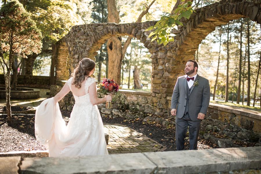 First Look Brotherhood Winery NY Wedding