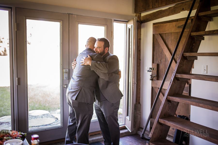 Groom and Best Man Hudson Valley Wedding Photography