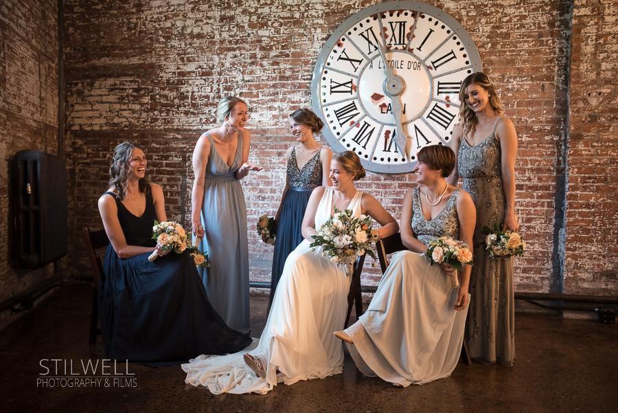 Bridal Party Portrait Senate Garage