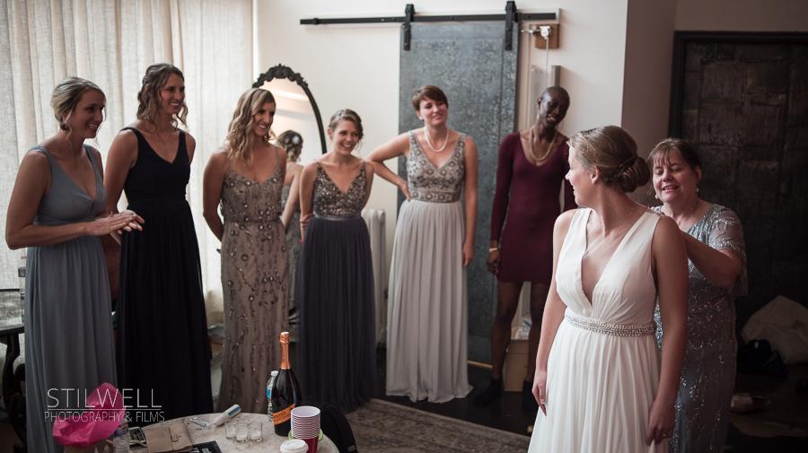 Bride Getting Dressed Senate Garage Kingston