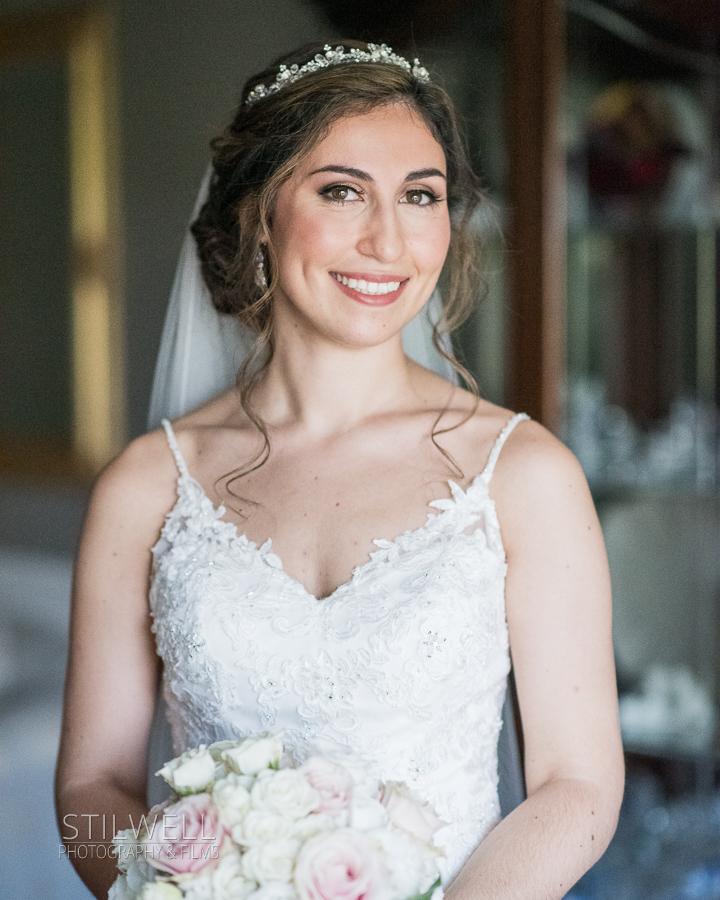 Bride Portrait Villa Barone Hilltop Manor Wedding
