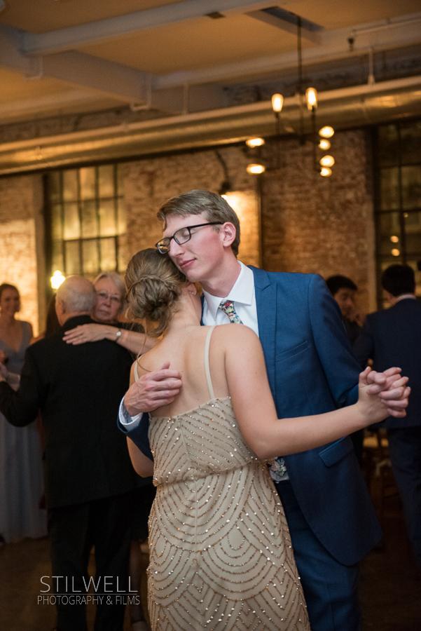 Bride and Groom Dance Senate Garage Reception