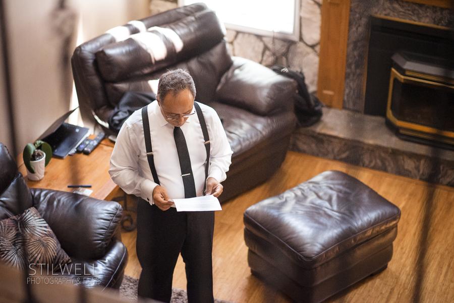 Father of Bride Preparing for Villa Barone Reception