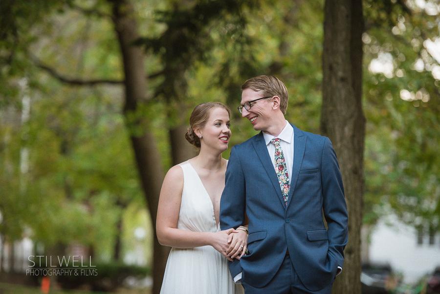 Happy Couple Senate Garage Wedding