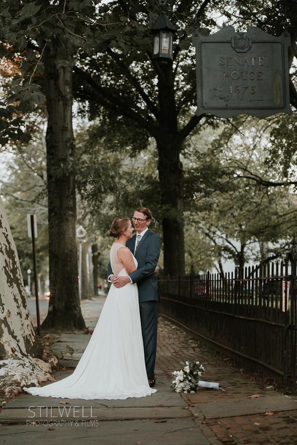 Kingston NY Wedding Couple Portrait