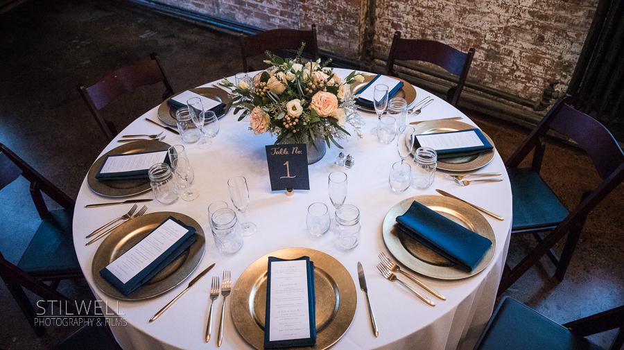 Kingston NY Wedding Table Setting
