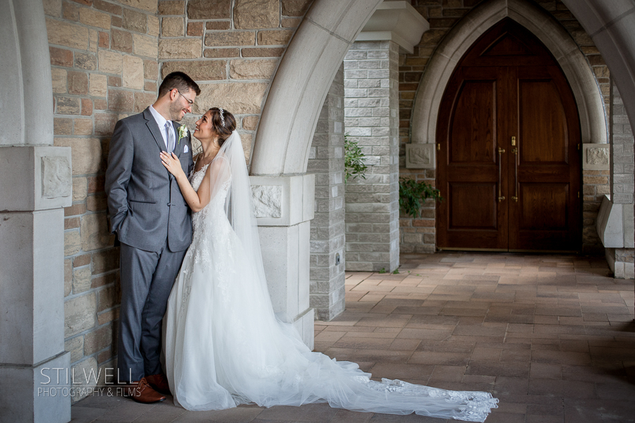 Portrait Bride and Groom Stilwell Photography