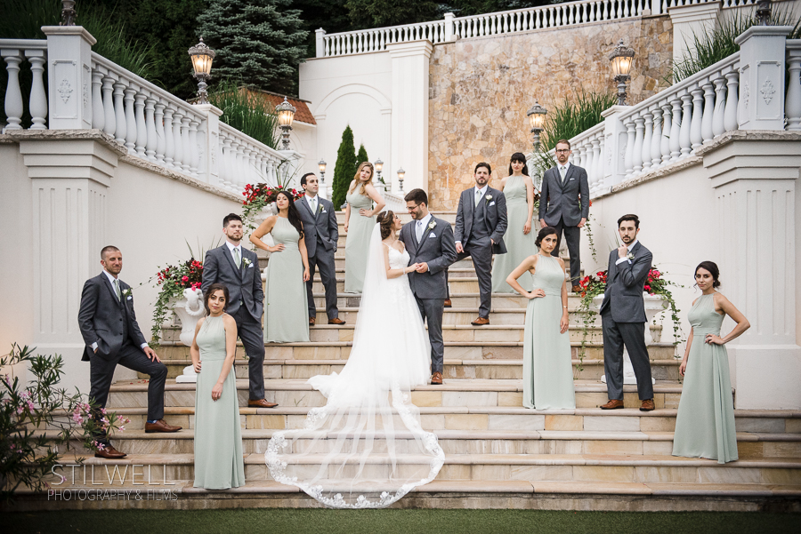 Wedding Party Portrait Villa Barone Hilltop Manor