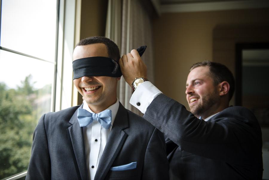 Blindfolded Groom Rye Whitby Castle Photographer