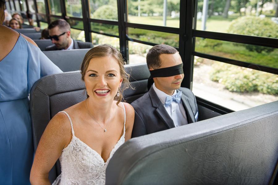 Blindfolded Groom Whitby Castle Wedding