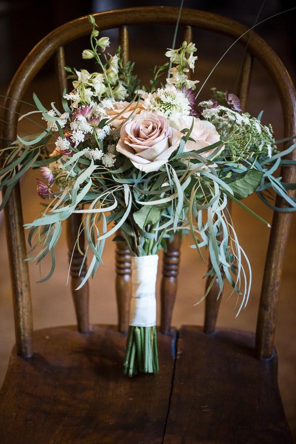 Bridal Bouquet Red Maple Vineyard Wedding