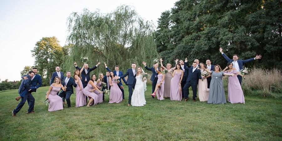 Bridal Party Fun at Vineyard Wedding