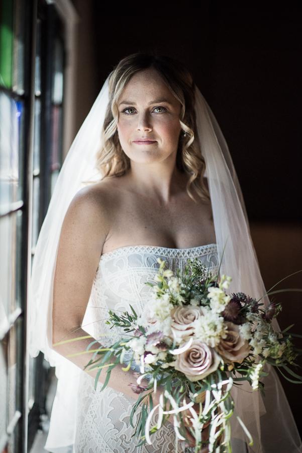 Bride Portrait Red Maple