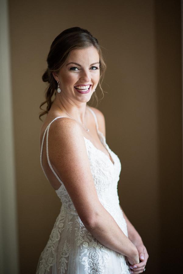 Bride Portrait Whitby Castle Wedding Photographer