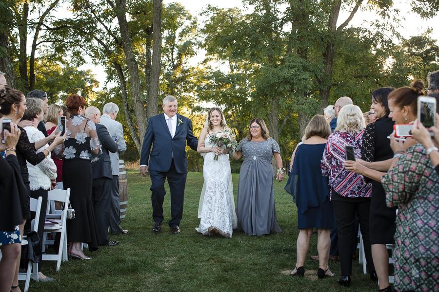 Bride Processional Outdoor Wedding