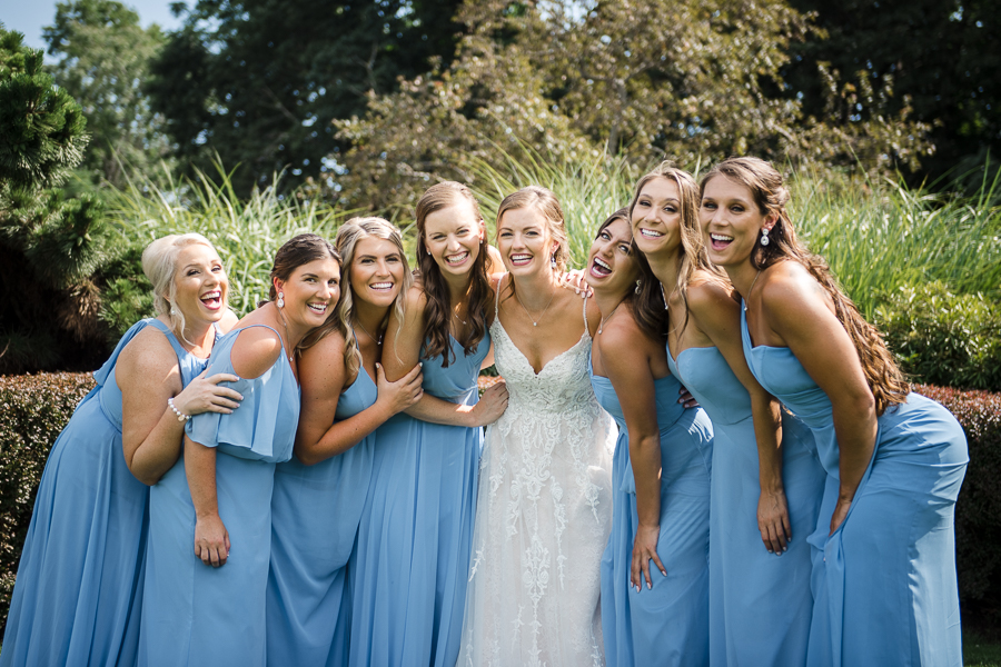 Bride and Bridesmaids Whitby Castle Rye Wedding Photographer