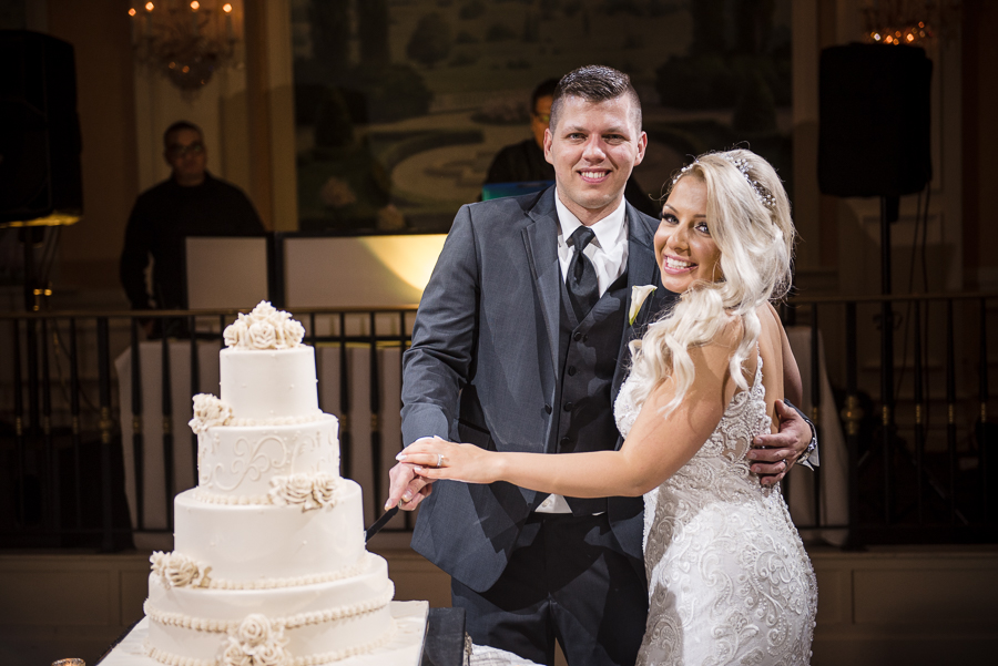 Cake Cutting Bergen County Wedding Photographer