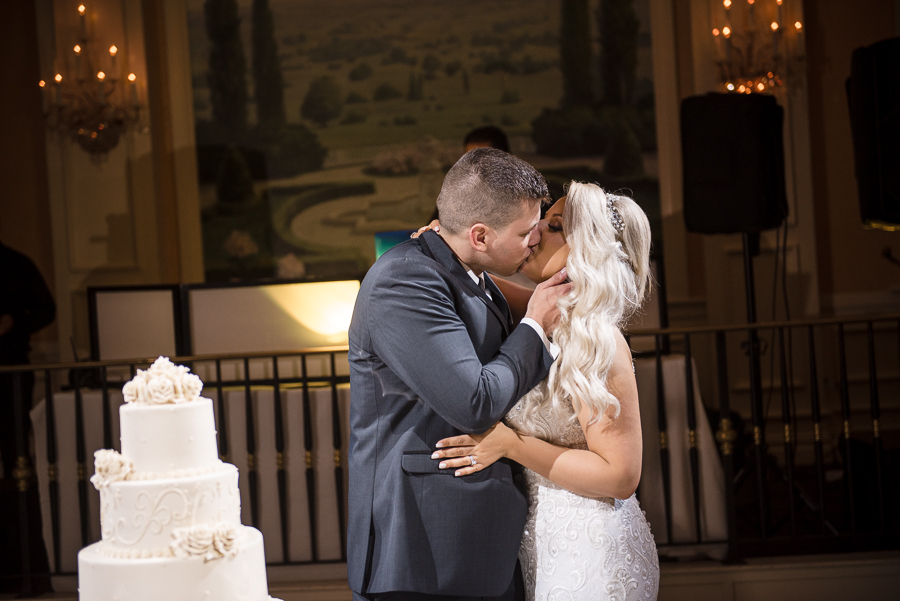 Cake Cutting Carlstadt NJ Wedding Photographer