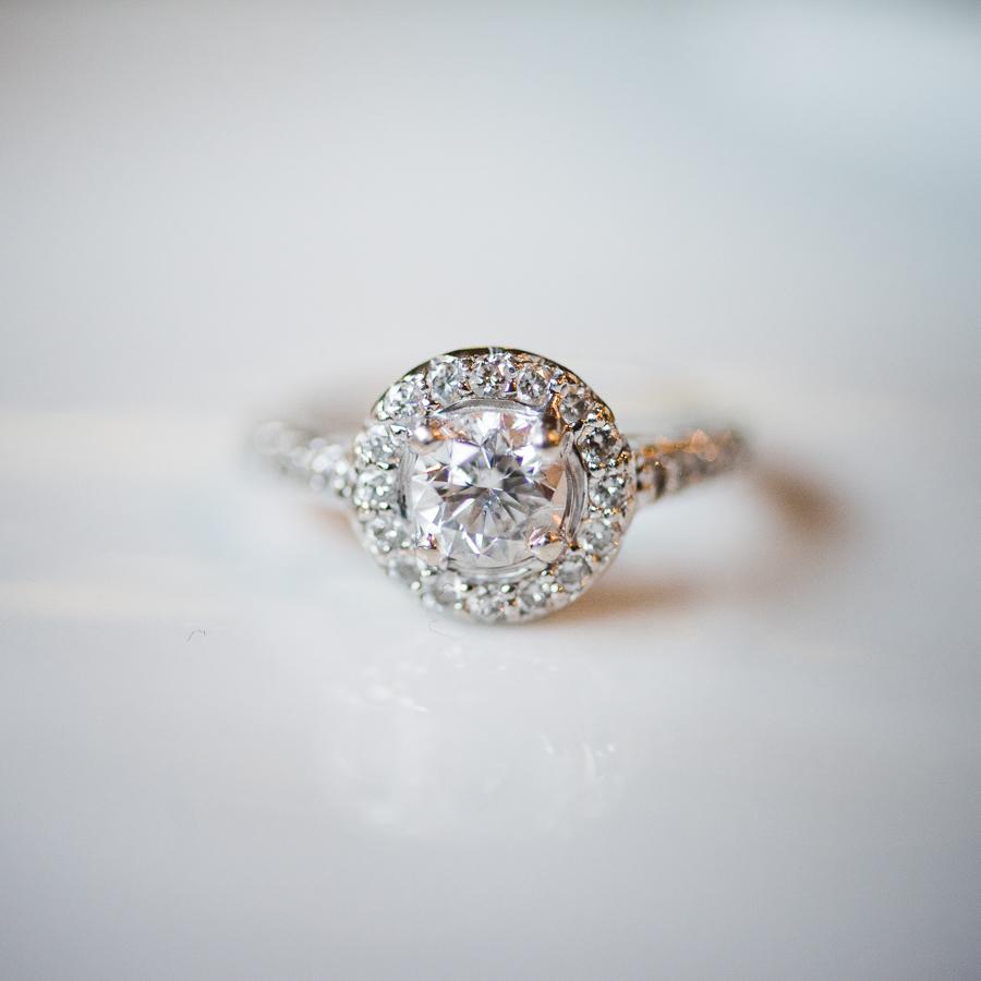 Engagement Ring Details Hudson River Wedding Photogapher