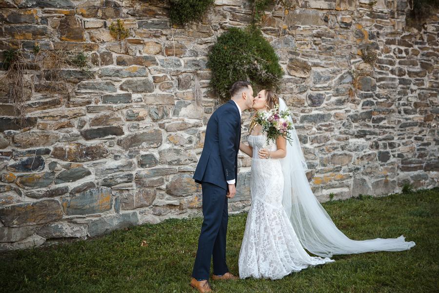 First Look Red Maple Vineyard Wedding Photographer