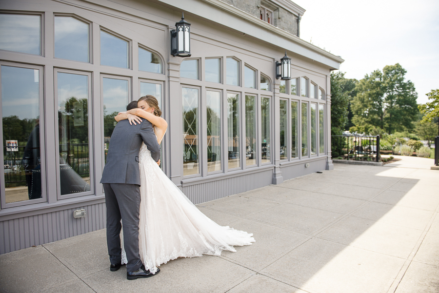 First Look Whitby Castle Wedding Rye NY