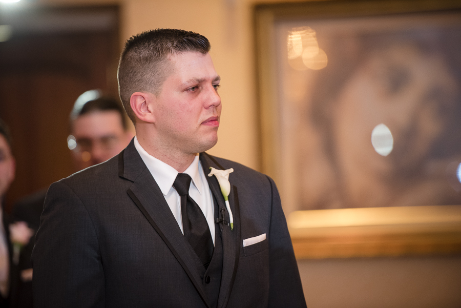 Groom Il Villaggio NJ Wedding Ceremony