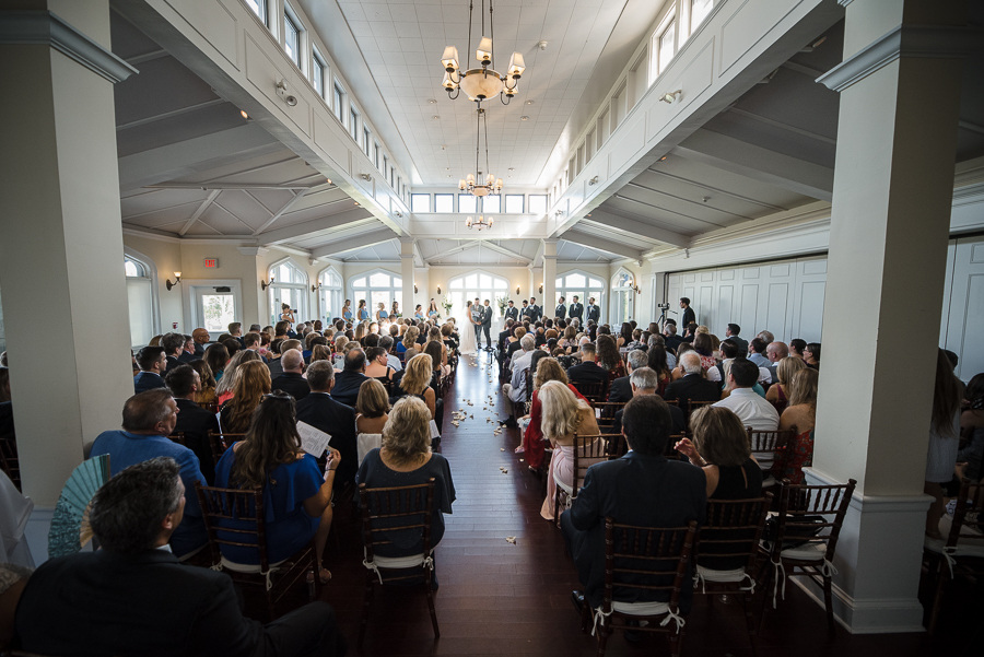 Indoor Ceremony Whitby Castle Rye NY Wedding