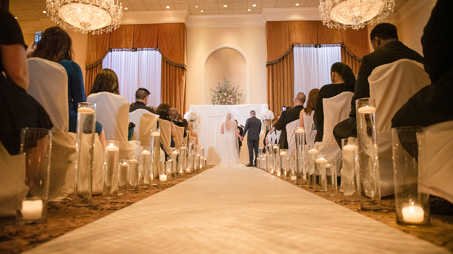 Indoor Wedding Il Villaggio Catering NJ Photographer