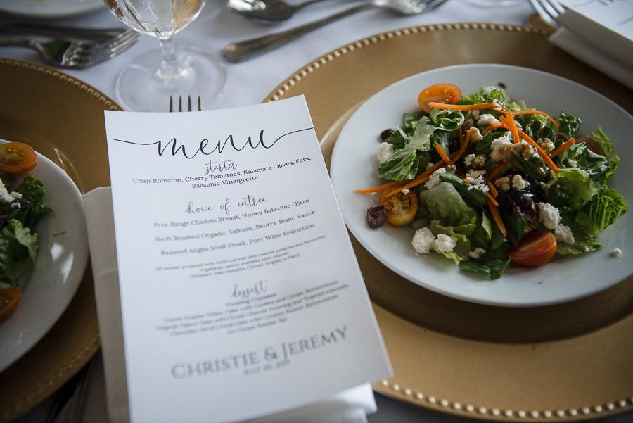 Wedding Dinner Menu Whitby Castle Rye NY