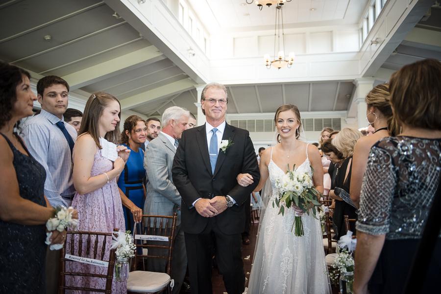 Wedding Processional Whitby Castle Rye NY Photographer
