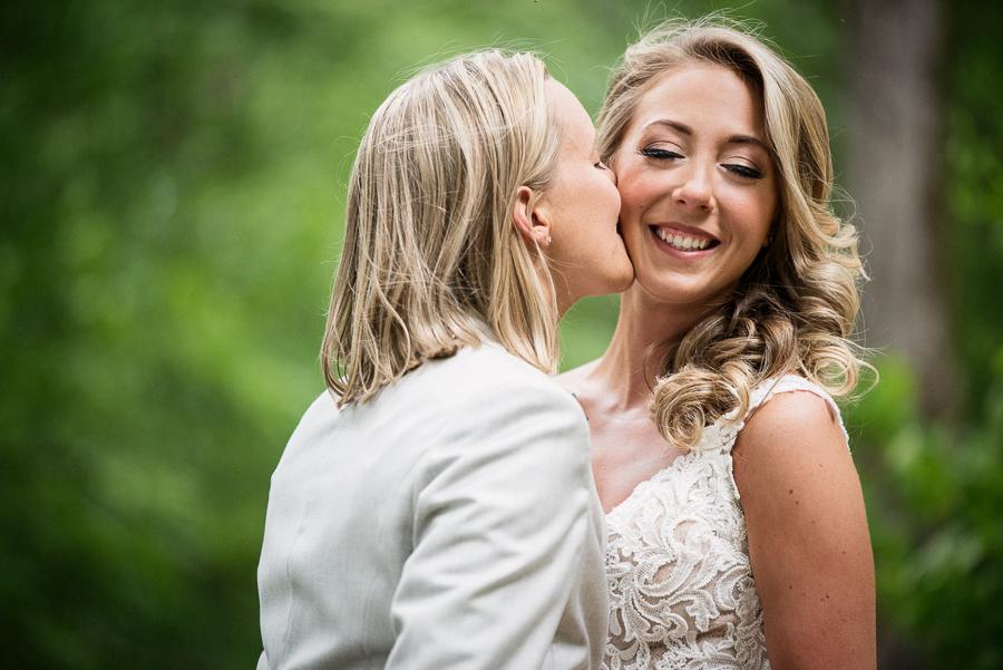 Bride and Bride Wedding Photographer Gilbertsville Farmhouse