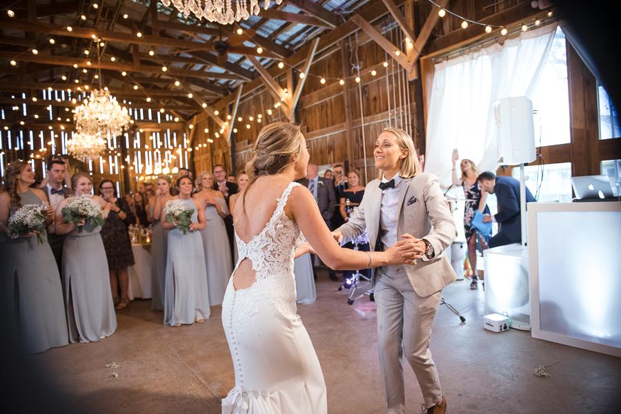 First Dance Farm Wedding