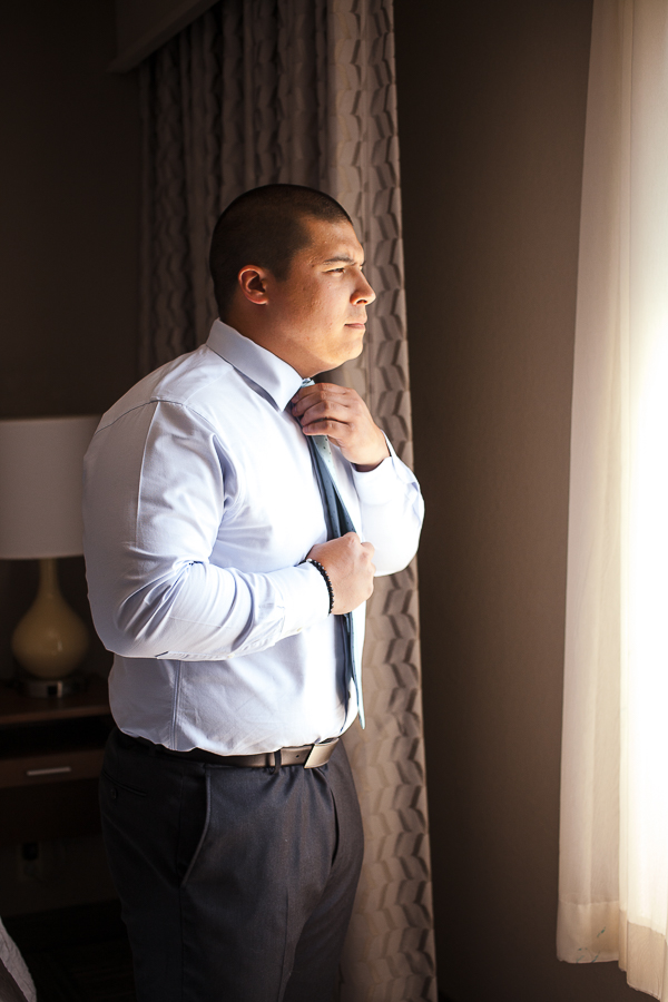 Groom Getting Ready Villa Venezia Wedding Photographer