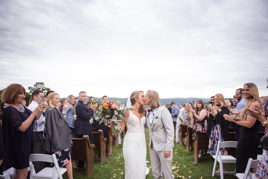 Wedding Ceremony Gilbertsville Farmhouse Photographer
