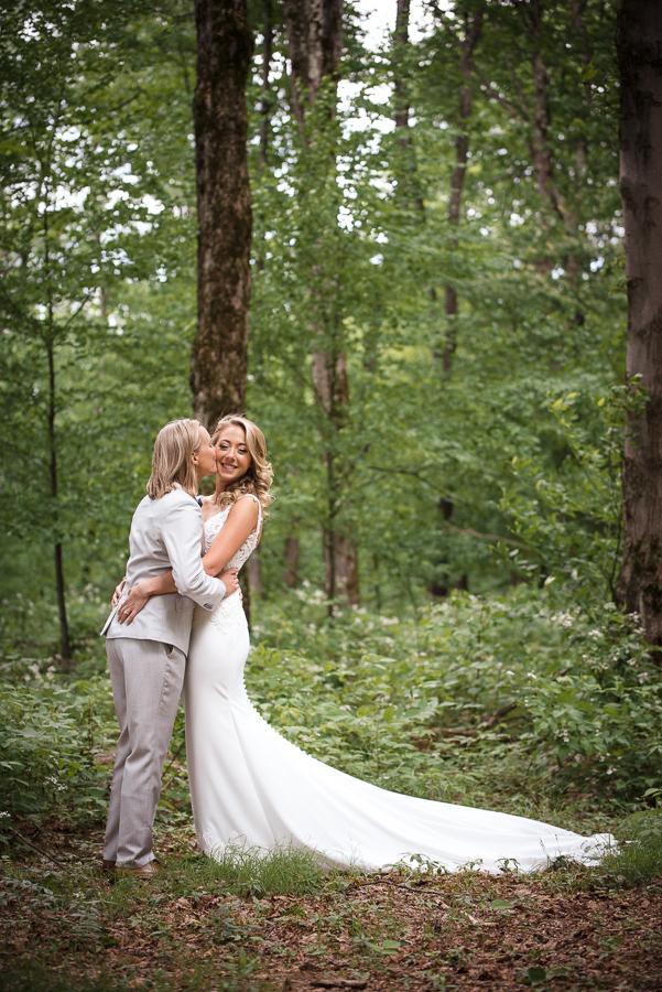 Wedding Portrait Photographer Bride + Bride