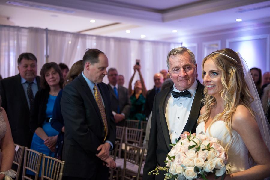 Bride and Dad The Briarcliff Manor Wedding