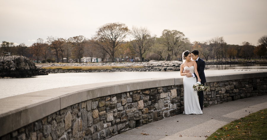 Bride and Groom Glen Island Harbour Club NY Wedding