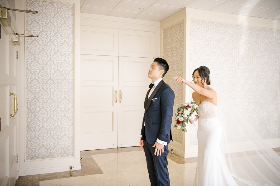 First Look New Rochelle NY Wedding