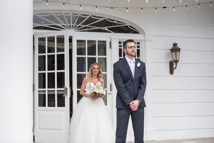 First Look Photographer Briarcliff Manor Wedding