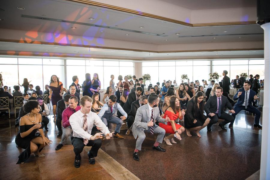Reception Dance Floor Glen Island Harbour Club Wedding