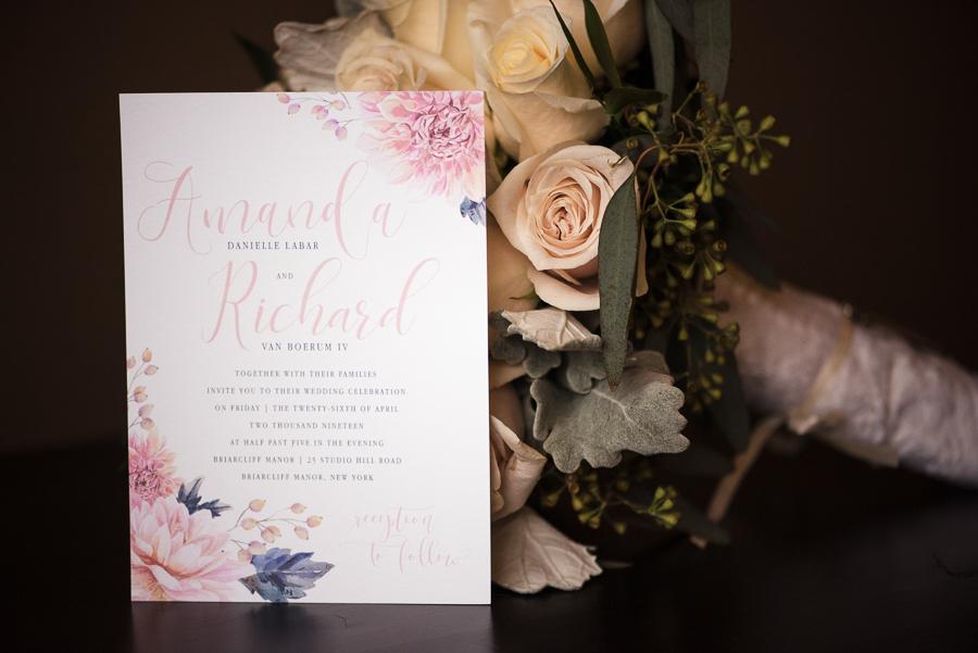 Westchester Wedding Photographer Invitation Details