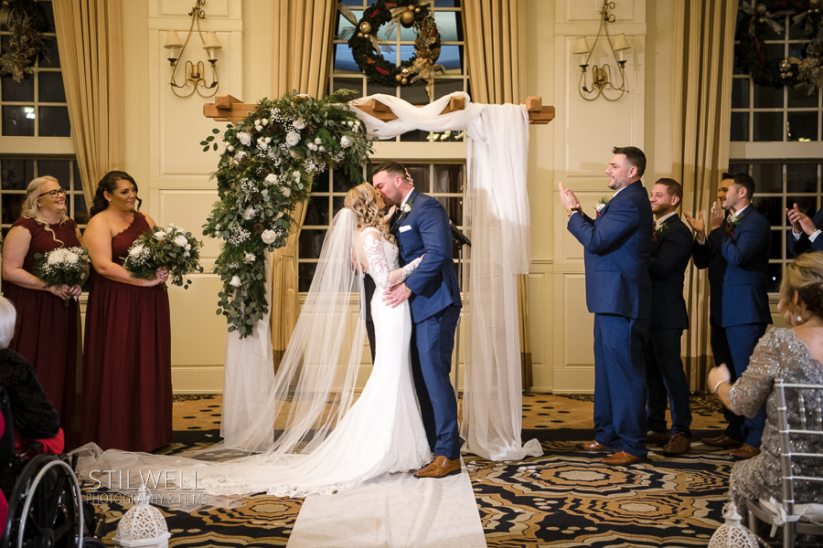 First Kiss Crystal Springs Resort and Spa Wedding