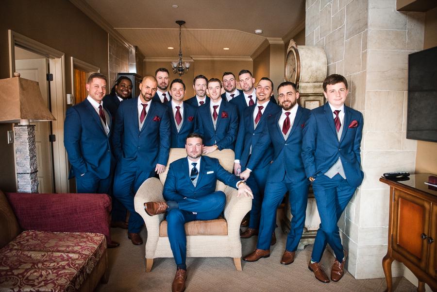 Groom and Groomsmen NJ Wedding Photography