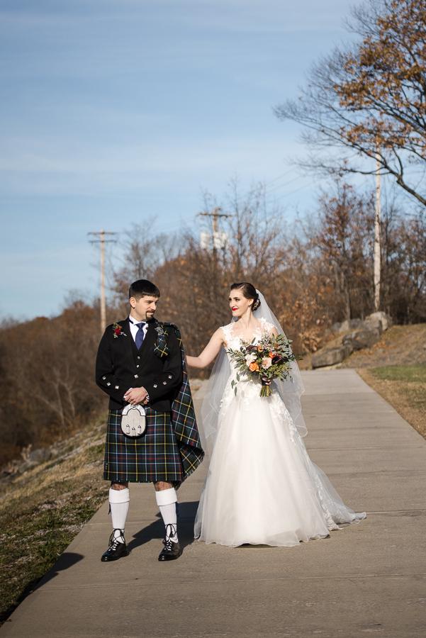 First Look Marist College New York Wedding