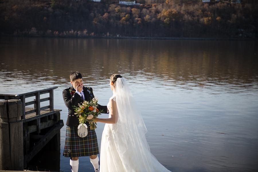 Wedding First Look Marist College